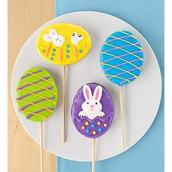 Easter Crisp Rice Lollipops