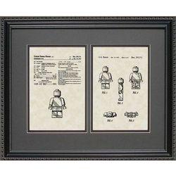 Legos Character Patent Artwork Print