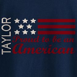 Personalized Proud To Be An American T-Shirt