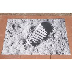 Moon Footprint Doormat