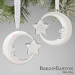 Silver Personalized Baby Girl Christmas Ornament