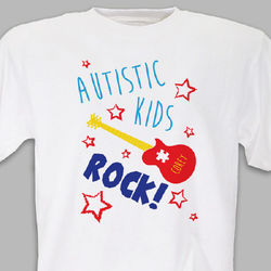 Personalized Autistic Kids Rock T-Shirt