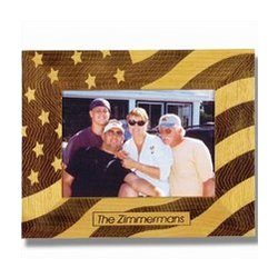 Stars And Stripes Wooden Photo Frame