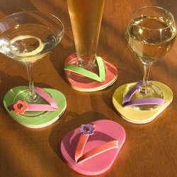 Flip Flop Stemware Coasters