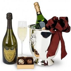 Champagne & Truffles for Two Gift Basket