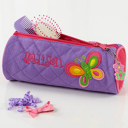 Personalized Girls Butterfly Cosmetic Bag
