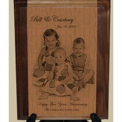 5th Anniversary Family Moments Laser Engraved Artwork