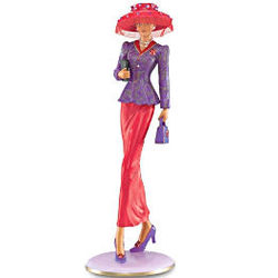 Walk By Faith, Not By Sight Stylish Woman Figurine