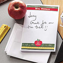 Personalized Apple Teacher Stationery Sheets & Envelopes