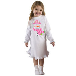 Personalized Snowman Nightgown