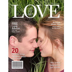 Personalized Love Magazine Cover