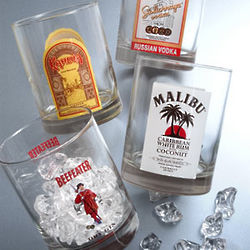 Alcohol Logo Old Fashion Glasses