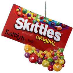 Personalized Skittles In Paper Bag Ornament