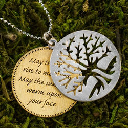 Irish Prayer Tree of Life Necklace