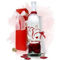 Personalized Valentine's Be Mine Message in a Bottle