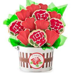 I Love You Rose Cookie Flower Pot