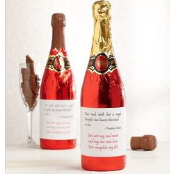 Love Note Chocolate Champagne Bottle