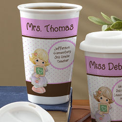 Precious Moments Personalized Teacher Reusable Travel Tumbler
