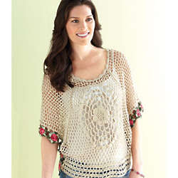 Crocheted Roses Top