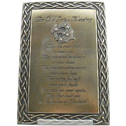 An Old Irish Blessing Plaque