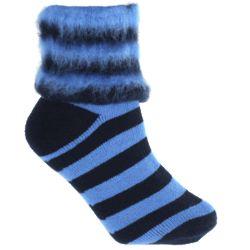 Wool Striped Bed Socks
