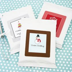 Personalized A Winter Holiday Hot Cocoa Wedding Favors