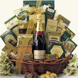 Gourmet Sophisticate Moet & Chandon Champagne Gift Basket