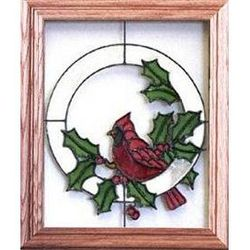 Holiday Theme Stained Glass Window