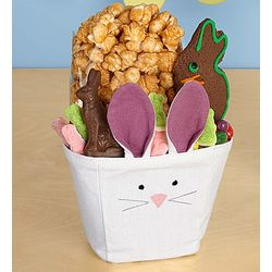 Cloth Bunny Treat Basket Set