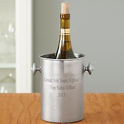 Personalized Message Stainless Steel Wine Chiller