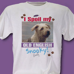 I Spoil My Dog Personalized Photo T-Shirt