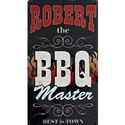 Personalized BBQ Master Metal Sign