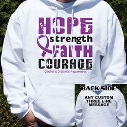 Crohn's Disease Hope Awareness Hooded Sweatshirt