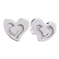 Love Shines Sterling Silver Stud Earrings