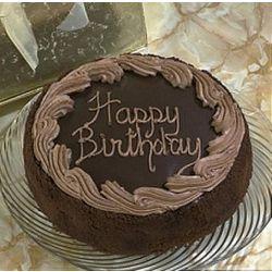 Chocolate Birthday Cake in Gold Gift Box