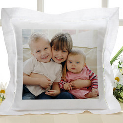 Personalized Linen Photo Pillow