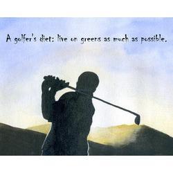 A Golfer's Diet Fine Art Print