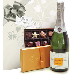 Veuve Clicquot Demi-Sec & Godiva Chocolates with Wedding Wrap