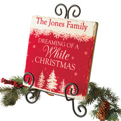 Personalized Dreaming of a White Christmas Tile