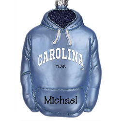 Personalized University of North Carolina Hoodie Ornament