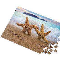 Personalized Starfish Framed Print
