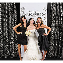 Personalized Black and White Photo Backdrop Banner