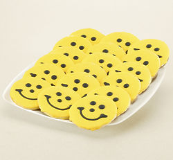 Pittsburgh Steelers Mini Smiley Sugar Cookies