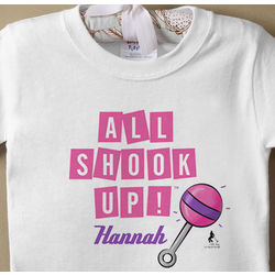 Elvis All Shook Up Personalized Baby T-Shirt