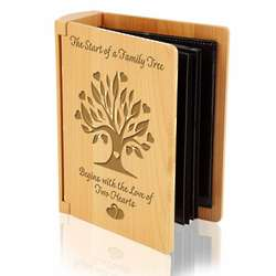Family Tree Wooden Photo Album