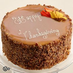 Thanksgiving Chocolate Caramel Pecan Cake