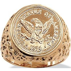 Men's American Eagle Coin Ring