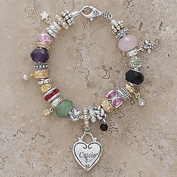 Personalized Heart and Soul Bracelet