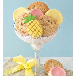 Pina Cookie Lada Cookies in Margarita Glass