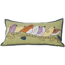 Eight Birds on a Limb Pillow